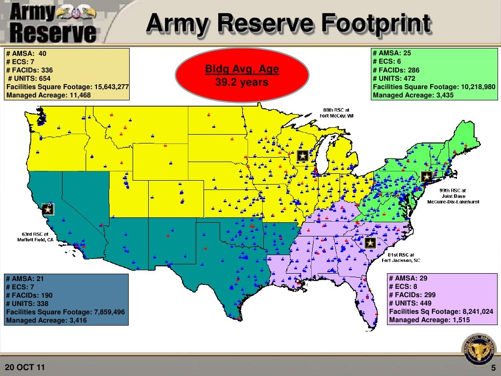 US Army Reserves – All Bases – Sebench Engineering, Inc